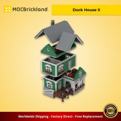 Modular Buildings MOC-40967 Dock House II by jepaz MOCBRICKLAND