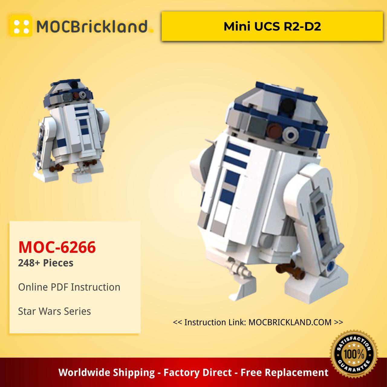 Star wars moc-6266 mini ucs r2-d2 by miro mocbrickland