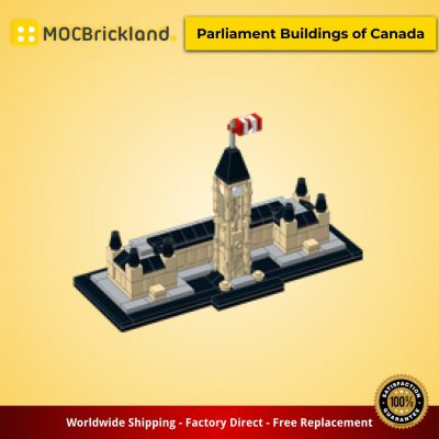 Architecture MOC-0182 Parliament Buildings of Canada by JKBrickworks MOCBRICKLAND