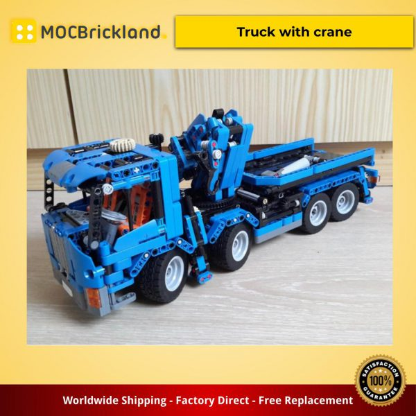 Technic moc-8317 truck with crane by erikleppen mocbrickland