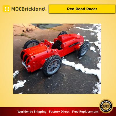 Technic moc-5370 red road racer by technicbasics mocbrickland