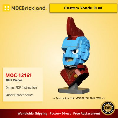 Super Heroes MOC-13161 Custom Yondu Bust by buildbetterbricks MOCBRICKLAND