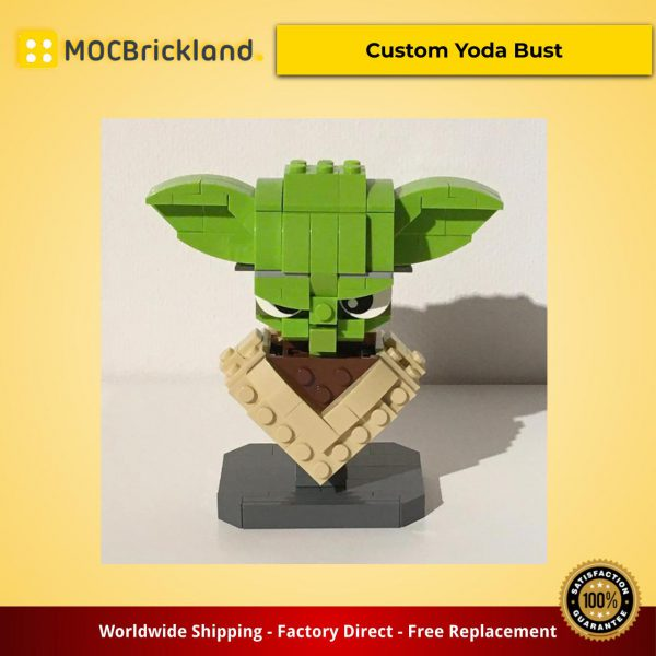 Star Wars MOC-12874 Custom Yoda Bust by buildbetterbricks MOCBRICKLAND