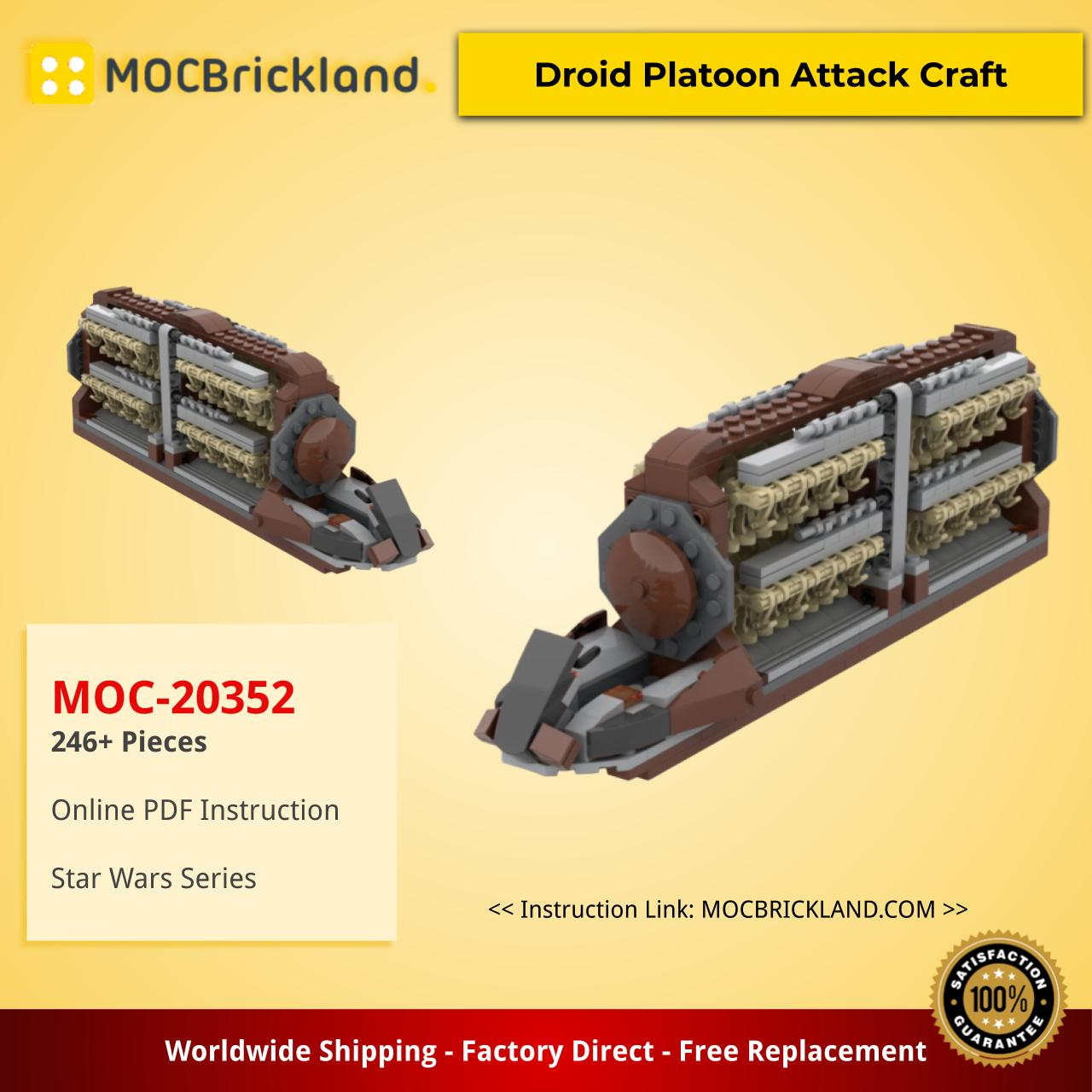 Star wars moc-20352 droid platoon attack craft by empirebricks mocbrickland