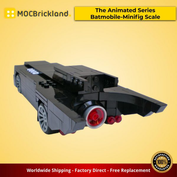 Cars moc-15632 the animated series batmobile-minifig scale (1992-1995) by brickvault mocbrickland