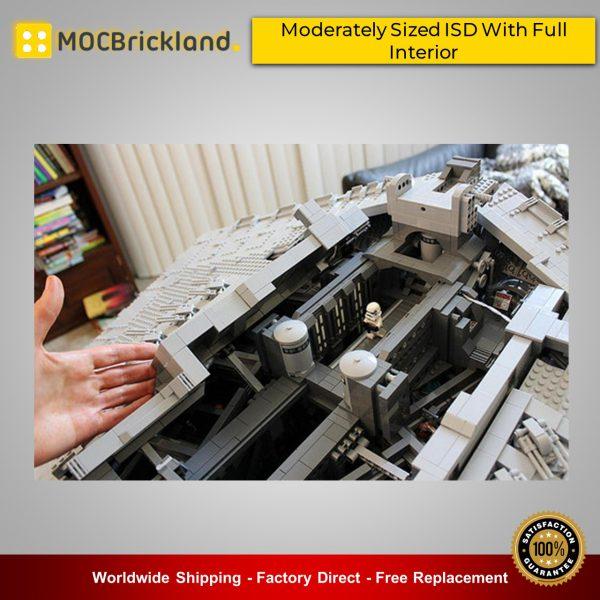 Star wars moc-9018 moderately sized isd with full interior by raskolnikov mocbrickland