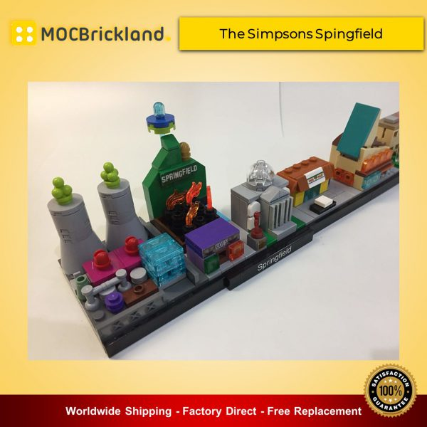 Architecture MOC-18013 The Simpsons Spingfield Skyline Architecture By MOMAtteo79 MOCBRICKLAND
