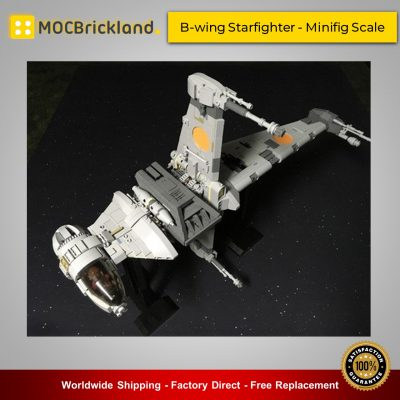 Star Wars MOC-18137 B-wing Starfighter - Minifig Scale By brickvault MOCBRICKLAND