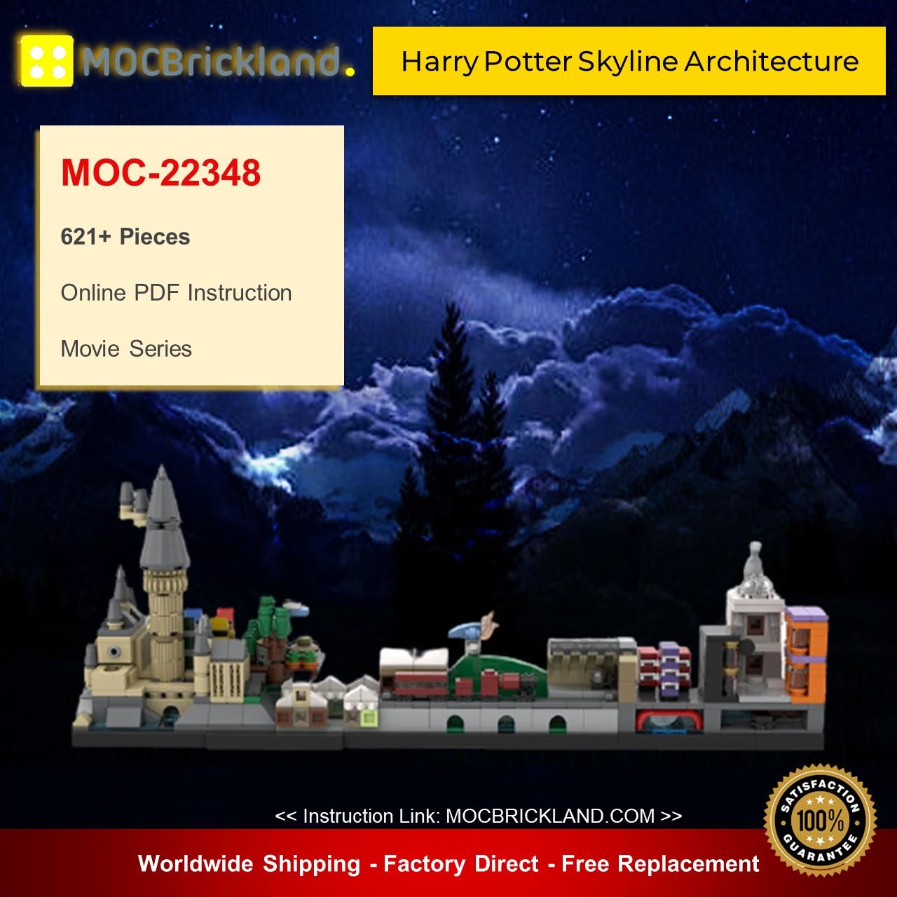 Movie MOC-22348 Harry Pօtter Skyline Architecture By MOMAtteo79 MOCBRICKLAND