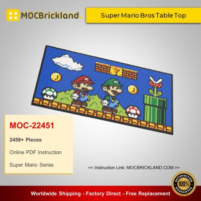 Super Mario MOC-22451 Super Mario Bros Table Top By mkibs MOCBRICKLAND