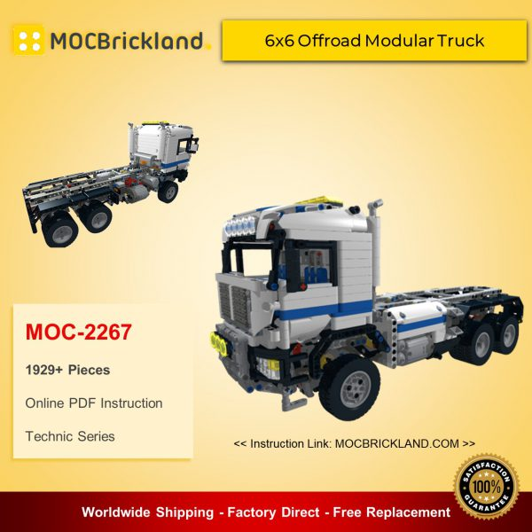 Technic moc-2267 6x6 offroad modular truck by d3k mocbrickland