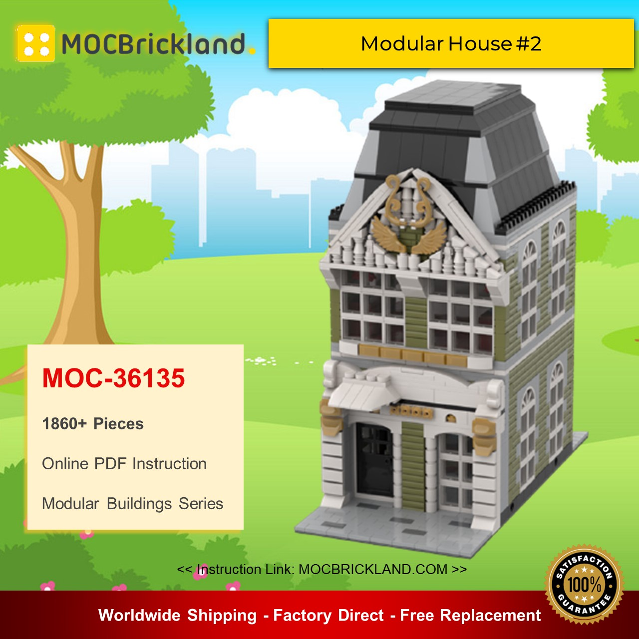 Modular Buildings MOC-36135 Modular House #2 By gabizon MOCBRICKLAND