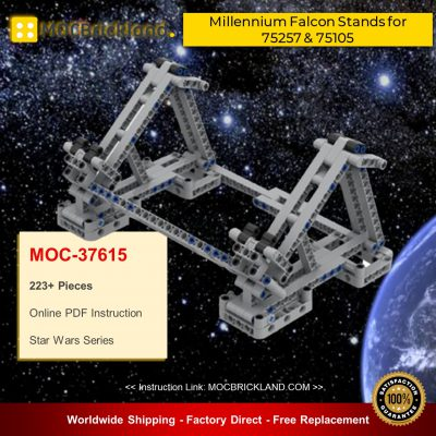 Star Wars MOC-37615 Millennium Falcon Stands for 75257&75105 with Flexible Clips and Landing Gears By darajan MOCBRICKLAND