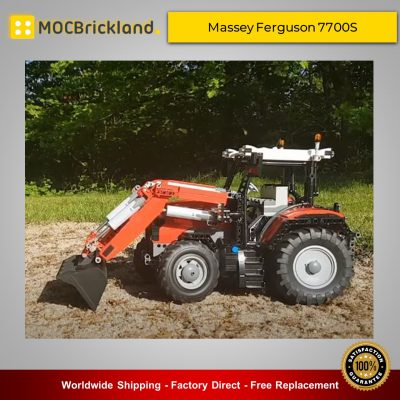 Technic MOC-42331 Massey Ferguson 7700S with Front End Loader By Mäkkes MOCBRICKLAND