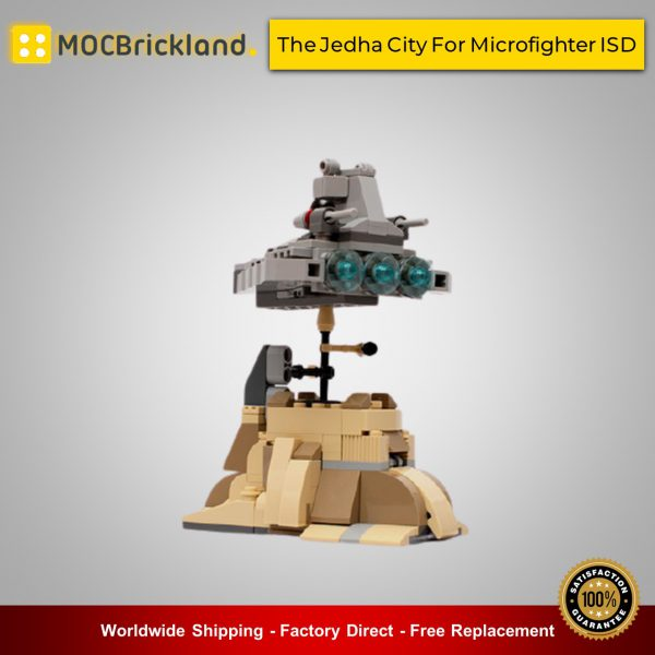 Star wars moc-9599 the jedha city for microfighter isd by timeremembered mocbrickland