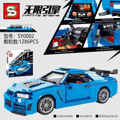 Technic SY 0002 Nissan R34 GT-R Super Car