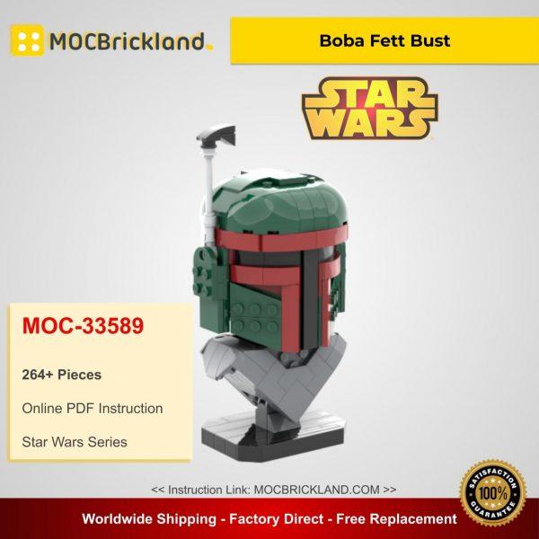 Star Wars MOC-33589 Boba Fett Bust By FredL45 MOCBRICKLAND