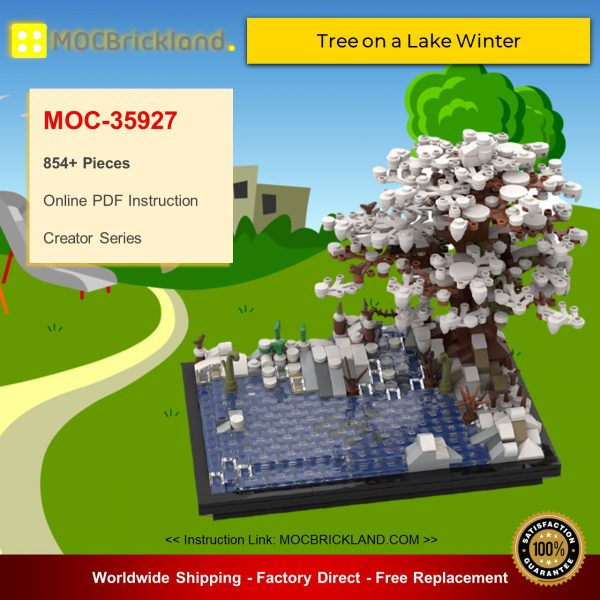 Creator MOC-35927 Tree on a Lake Winter By l1anchu MOCBRICKLAND