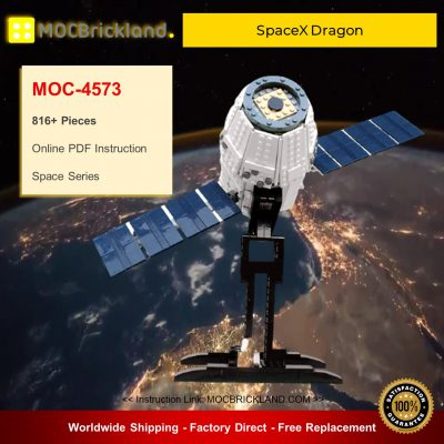Space MOC-4573 SpaceX Dragon By Perijove MOCBRICKLAND
