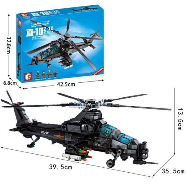Creator SEMBO 202119 Z 10 Attack Helicopter 4 LEPIN™ Land Shop