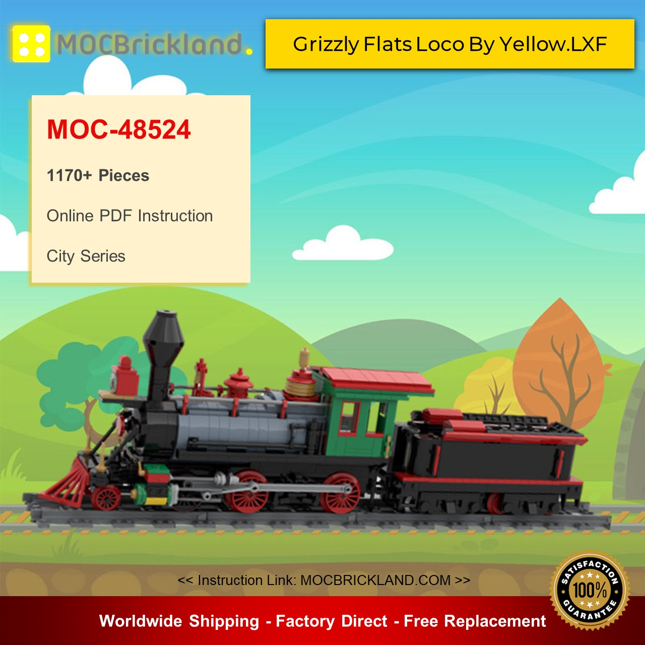 City MOC-48524 Grizzly Flats Loco By Yellow.LXF MOCBRICKLAND