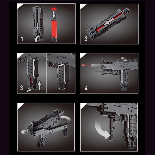 Mouldking 14006 mini uzi submachine gun 3 lepin™ land shop