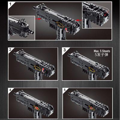MOULDKING 14012 American Ingram Mac 10 Submachine Gun 4 LEPIN™ Land Shop