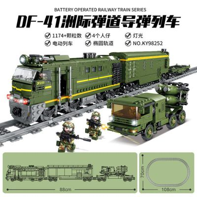 Military KAZI 98252 DF 41 Intercontinental Missile Train With Light And Sound LEPIN™ Land Shop