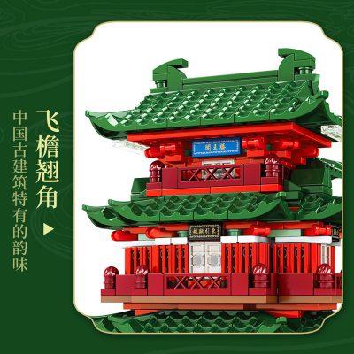 Sembo 601141 pavilion of prince teng tengwang pavilion nanchang jiangxi 3 lepin™ land shop