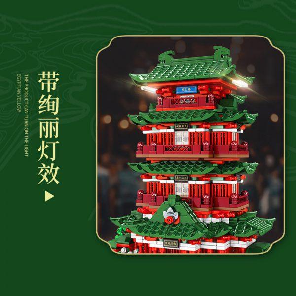 Sembo 601141 pavilion of prince teng tengwang pavilion nanchang jiangxi 4 lepin™ land shop