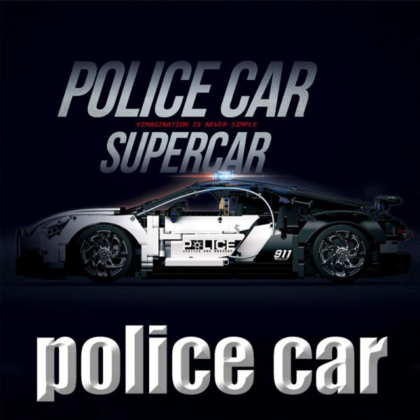 Technic DECOOL 3388D The Police Racing Car