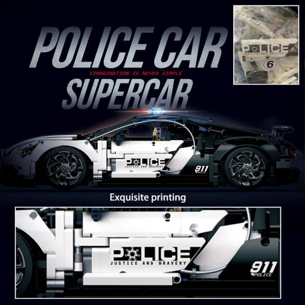 Technic DECOOL 3388D The Police Racing Car 8 LEPIN™ Land Shop