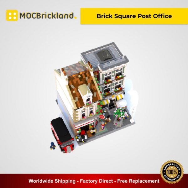 Modular Buildings MOC-22101 Brick Square Post Office By Bricked1980 MOCBRICKLAND