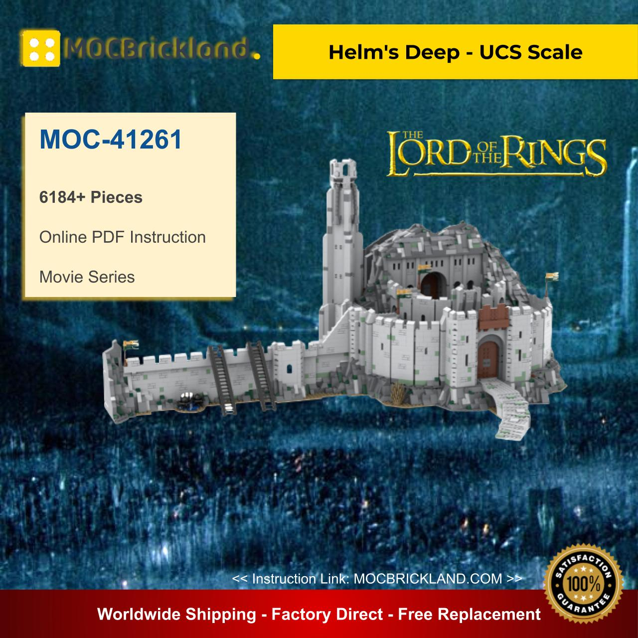 Movie MOC-41261 Helm's Deep, UCS Scale By Playwell Bricks MOCBRICKLAND
