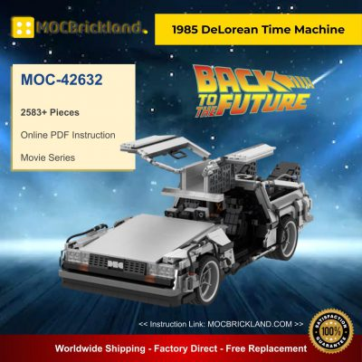 Movie MOC-42632 Back to the Future 1985 DeLorean Time Machine By Luissaladrigas MOCBRICKLAND
