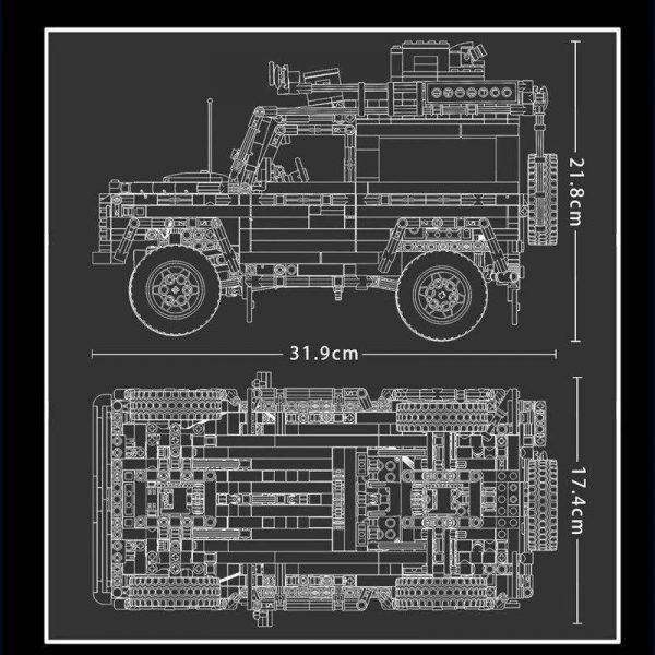 LEJ J908 Land Rover Defender Off road Car 4 LEPIN™ Land Shop