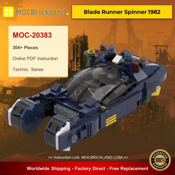 Technic moc-20383 blade runner spinner 1982 by momatteo79 mocbrickland