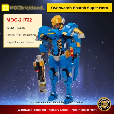 Super Heroes MOC-21722 Overwatch Pharah Super Hero by buildbetterbricks MOCBRICKLAND