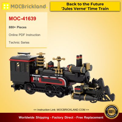 Technic MOC-41639 Back to the Future 'Jules Verne' Time Train By mkibs MOCBRICKLAND