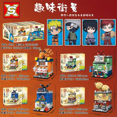 SX 9010 Retail Store 4 In1 Japan Anime Naruto 4 LEPIN™ Land Shop