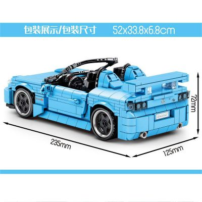 Technic SY 8307 Juggernaut Frenzy: Honda Roadster Pull Back