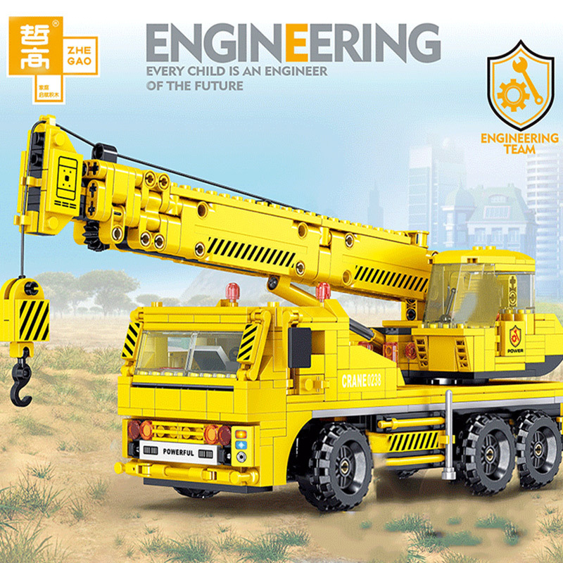 ZHEGAO QL0238 Engineering Crane Construction Vehicle LEPIN™ Land Shop